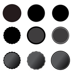 set black price tags on white background black vector image