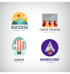 set of business start up logos career vector image