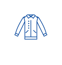 shirt with vest line icon concept shirt with vest vector image