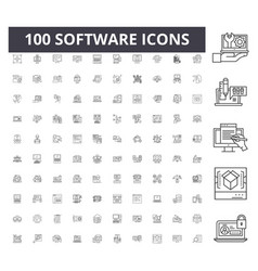 software line icons signs set outline vector image
