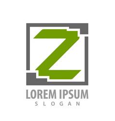 square letter z concept design symbol graphic vector image