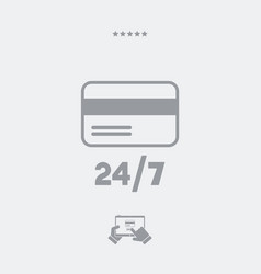 Steady credit card services 247 - web icon vector