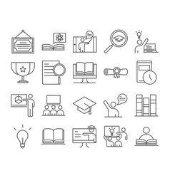 teach school education learn knowledge and vector image