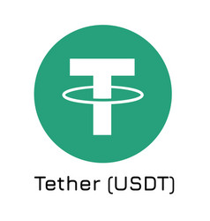 tether usdt crypto coin ic vector image