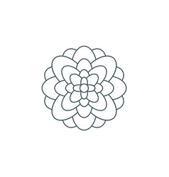Thin line flower logo vector