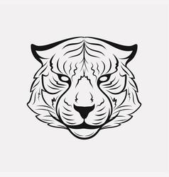 tiger icon logo vector image