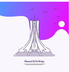 Travel monument of the martyrs poster template vector