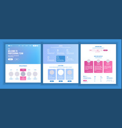 Website template page business interface vector