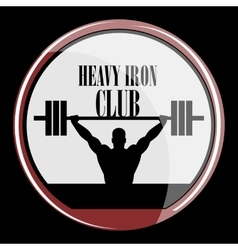 weightlifting and fitness vector image