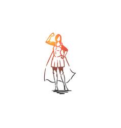 woman businesswoman working success leadership vector image