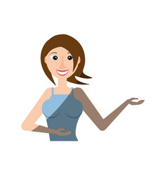 woman smiling fun lifestyle vector image