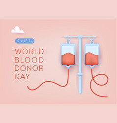 World blood donor day 3d web vector