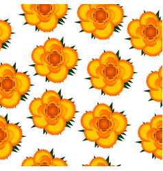 yellow roses seamless pattern background vector image