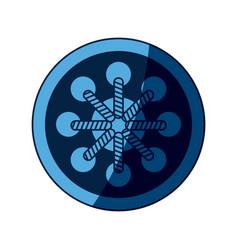 blue dream catcher free spirit decoration ethnic vector image