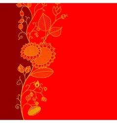 Fluorish Greeting Card vector image