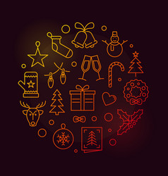 happy new year circular colored vector image vector image