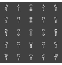 Key icons collection vector image