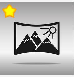 Panorama black icon button logo symbol concept vector