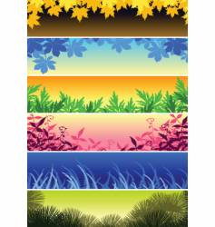 plant banners vector image