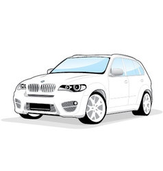 sporty car vector image vector image