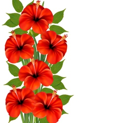 Background with a bunch of red flowers vector
