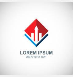 business progress arrow logo vector image vector image