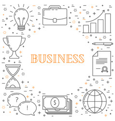 business thin line design vector image vector image