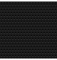 Abstract dotted black metal background texture vector image