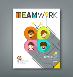 Cover annual reports colorful teamwork concept vector image vector image