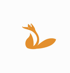 fox symbol vector image