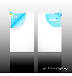 Set of nature gift cards with reflection vector image