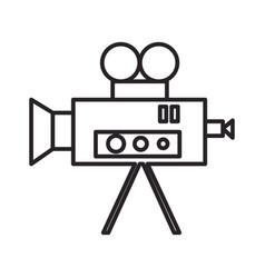 video cinema retro camera line icon sign vector image