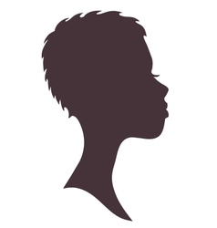Woman face silhouette Young african girl vector image