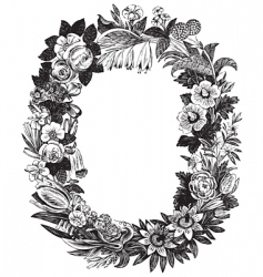 antique flower frame vector image vector image