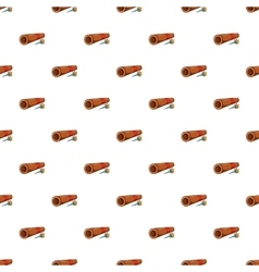 Brass tube with darts pattern cartoon style vector image vector image