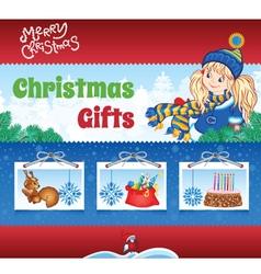 Kid winter background vector image