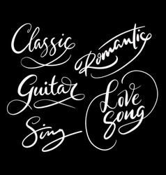 love song and romantic hand written typography vector image vector image