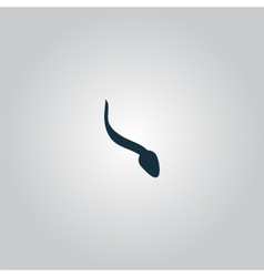 Sperm sign icon Fertilization or insemination vector image vector image
