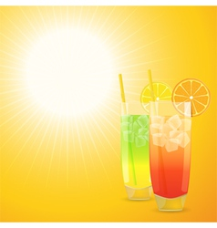 summer cocktail background vector image vector image