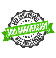 30th anniversary stamp sign seal vector