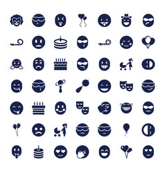 49 happiness icons vector