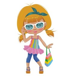 A girl in glasses vector image