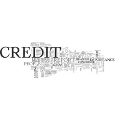 A good credit report the key to cheap finance vector