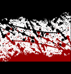 abstract paint splatter black and red color vector image