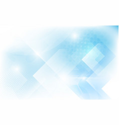 abstract white and soft blue triangles shape vector image