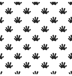 Animal paw seamless pattern vector image