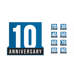 Anniversary icon birthday logo template vector