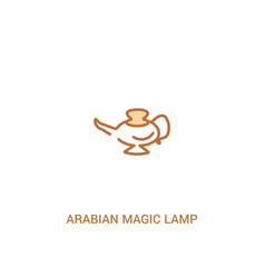 Arabian magic lamp concept 2 colored icon simple vector