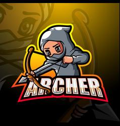 Archer mascot esport logo design vector