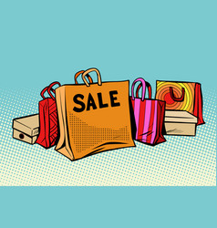 bags sale season discount background vector image